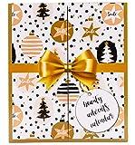 Golden Book Beauty Calendario dell'Avvento con MakeUp, libro con finestrelle da aprire con cosmetici, calendario dell'Avvento per donne