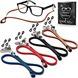 Eyeglasses Holder Strap Cord - Premium ECO Leather...
