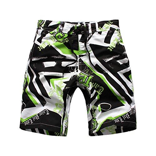 LAPLBEKE Jungen Badehose Boardshorts Schnelltrockend Strandshorts Urlaub Shorts, Grün, Größe XL=152/158