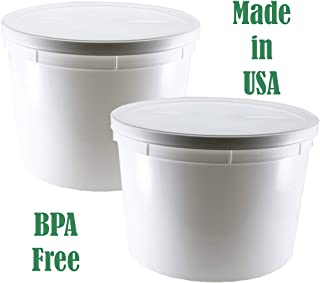 1.1 Gallon HDPE Container for Yogurt- Fits Instant Pot DUO60-2 Pack