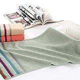 WSZMD Toalla Suave Jacquard Toalla De Cara Toallas Toalla Suave Absorbente Cara De La Mano del Hogar Los Productos De Fibra De Bambú Bordado Toallas Set (Color : Green)