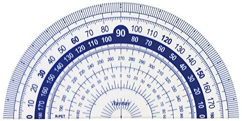 レイメイ藤井定規はし0目盛り分度器9cmAPJ92