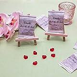 25 x Fruchtgummi-Herzen Gummibärchen Gastgeschenke Hochzeit - Schön, dass du da bist - Geburtstag - Konfirmation - Kommunion - Einschulung - Taufe - 4