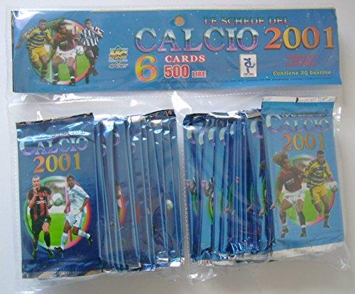 Schede Calcio 2001 Cards II Ed. Box 30 Bustine MC
