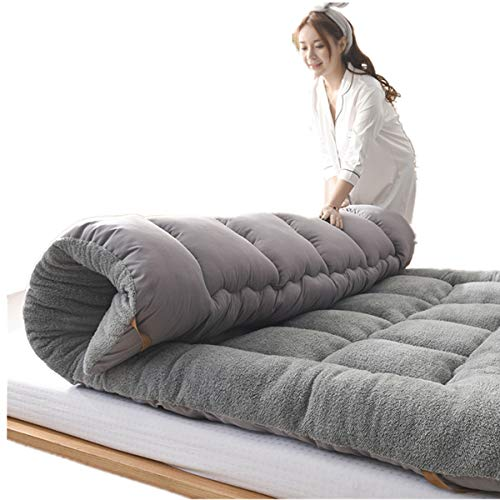 FDesign Dicke Bodenmatratze Tatami Gepolsterte matratze, Atmungsaktive Langsam Rebound Japanischen Boden futon-matratze Futonbett Matratze Futon Gro?e Leicht zu Carry,Gray,180 * 200cm
