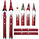 MorTime Christmas Refrigerator Handle Covers, Set of 8 Santa Claus Snowman Fridge Door Decorations, Kitchen...