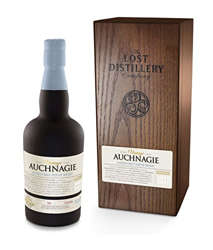 Photo of Auchnagie Vintage Selection from The Lost Distillery Company. 700ml, 46% Abv, Wooden Box, Delicate Highland style with hints of flowers, boiled sweets and a hint of pepper