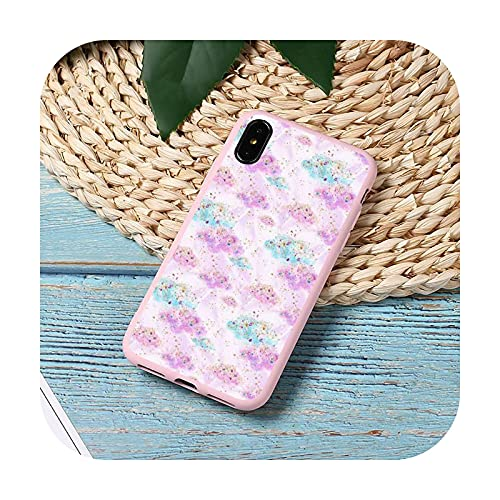 Moda caramelo patrón colorido teléfono caso caramelo color para iPhone 11 12 mini pro XS MAX 8 7 6 6S Plus X 5S SE 2020 XR cubierta funda-a7-6Plus 6SPlus