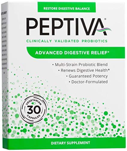 Peptiva Advanced 50 Billion CFU Probiotic - Digestive Relief - Clinically Validated, Premium Probiotic