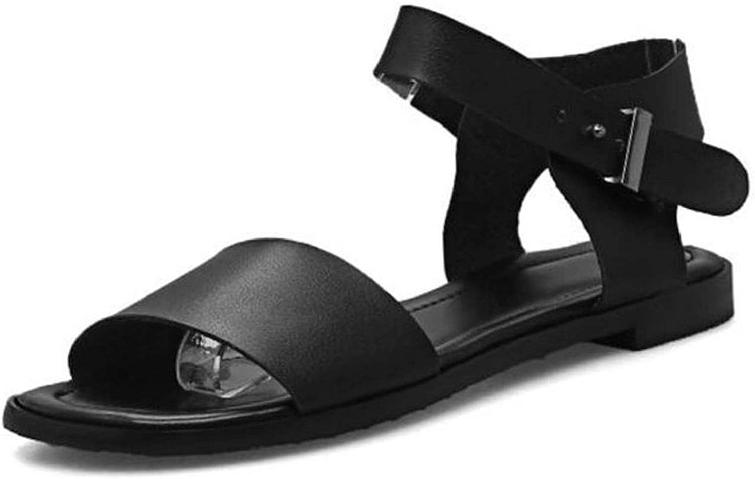 Forever Long Plus Size 31-46 Women Flats Sandals Metal Buckle Summer Beach Party shoes for Women