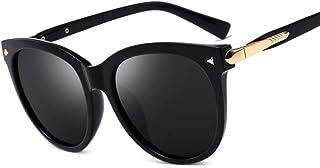 e7445e3166 Gafas De Sol,Ronda Vintage Gafas De Sol Polarizadas Mujeres Hombres Men's  Black Cat Eye