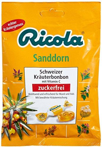Ricola Riccola Sanddorn ohne Zucker, 6er Pack (6 x 75 g)