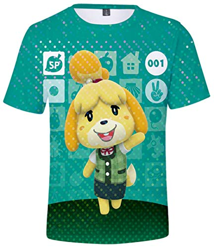 Silver Basic Dames Tops Animal Crossing Videogames T-shirts ETC-type Doubutsu no mori Japanse spellen Cartoon print T-shirt