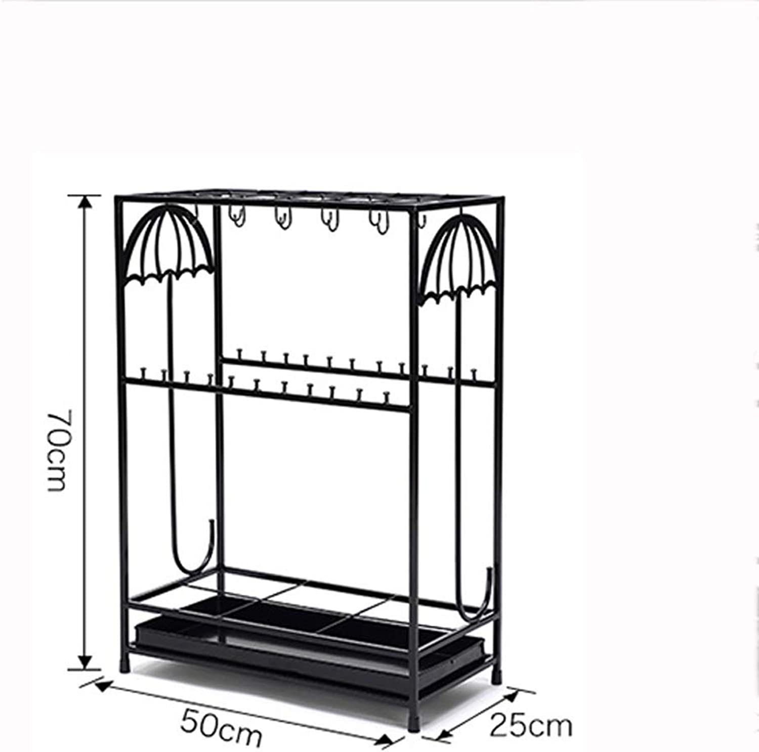 Lsxlsd Iron Umbrella Stand Hotel Lobby Home Creative Floor-Mounted Rain Gear Umbrella Placed Storage Rack Umbrella Stand.