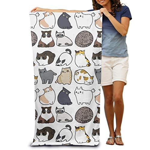 Vilico - Telo mare in microfibra con gatti e gatti, misura grande, per il bagno, ad asciugatura rapida, da viaggio, per piscina, 80 x 130 cm