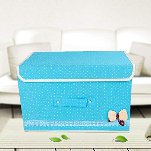 Niet-geweven opbergdoos afwerkingsdoos bodem kan vouwen de doos doek gesp speelgoed opbergdoos 39 x 24 x 25cm (1.3 karton) Sky
