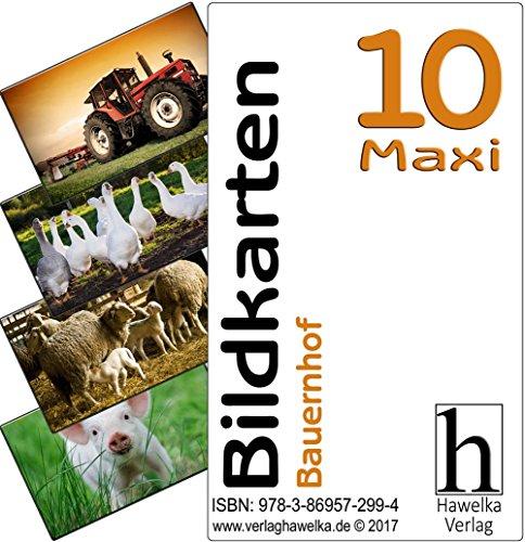 Bildkarten 10 -Maxi- Bauernhof - (Fotokarten in Postkartengröße / etwas schmaler) - ideal in der Altenpflege, Geriatrie und Heimbetreuung, Biografiearbeit, Sprachförderung, Pädagogik, Therapie