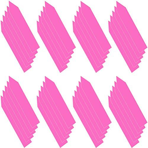 Ruiyoupin Tuinplant etiketten herbruikbaar plastic stiften gevormde kinderkamer plant label multicolor 200 stuks, roze-pak van 2