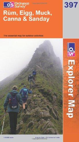 OS Explorer map 397 : Rùm, Eigg, Muck, Canna & Sanday