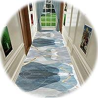 KKCF 廊下のカーペット、 マイクロファイバー バッキングプラスチック滑り止め底 防水 洗える 廊下玄関フロアカーペットの場合、 サイズはカスタマイズ可能 (Color : A, Size : 0.6x7m)