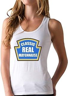 Mayonnaise Funny Mayo Easy Custom Novelty Gift Racerback Tank Top