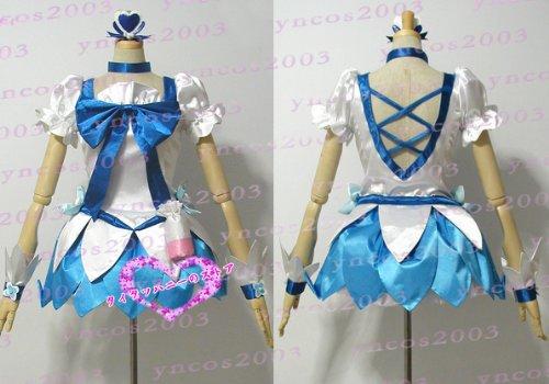 『コスプレ衣装♪ハートキャッチプリキュア!キュアマリン 靴付き コスチューム、コスプレ』の2枚目の画像