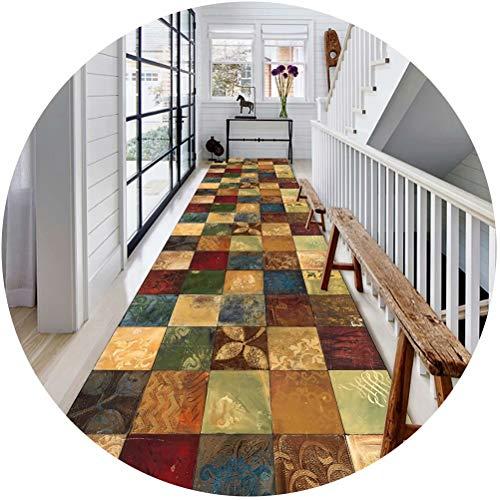 WUZMING Tapis De Passage Couloir Couloir Tapis Long Coupable Salle Région Protection De Sol, 2 Styles, Une Variété De Longueurs (Color : A, Size : 60x300cm)