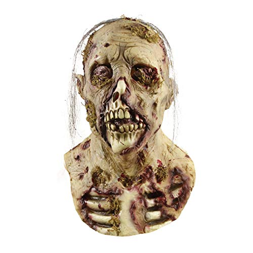 molezu Gruselige Maske, gruselige Maske Resident Evil Monster Maske, Zombie Kostüm Party Gummi Latex Maske für Halloween