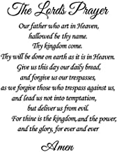 Best Newclew The Lords Prayer Our Father who Art in Heaven, Hallowed by Thy Name. Thy Kingdom Come, Thy Will be Done on Earth as it is in Heave Wall Art Sayings Sticker Décor Decal Prayer Church Review