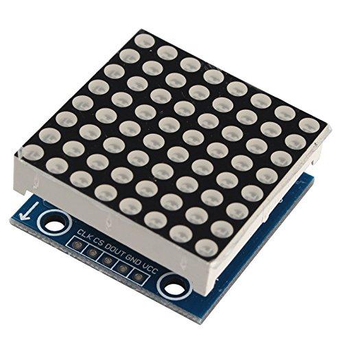HALJIA nahtlos kaskadierbar MAX7219 Pic 8 x 8 Dot Matrix Display LED 5,5 V CONTROL Modul Kompatibel mit Arduino