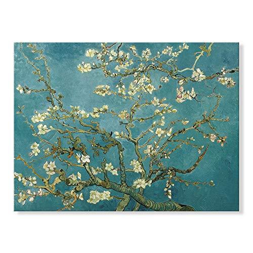 7 Fision Art ゴッホ[世界の名画コレクション]『アーモンドの木の枝』複製画 風景画 植物 印象派 インテリア 贈答 ギフト 玄関に飾る絵 リビングに飾る絵 60*40cm