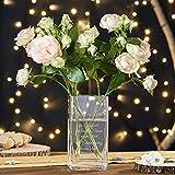 Casa Vivente Blumenvase mit Gravur zum Trost, Vase aus Echtglas, Deko Windlicht, Trauergeschenk für Verwandte und Freunde - 5
