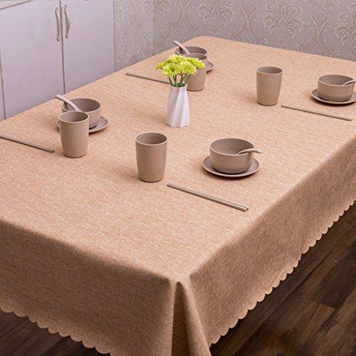 LWF Nappe européenne Nappe de Coton antipoussière Table à Huile Nappe de thé fête Banquet Pique-Nique, imperméable à l'eau Nappe Nappe rectangulaire (Couleur : C, Taille : 130 * 180cm)