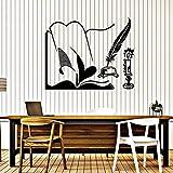 Tianpengyuanshuai Calcomanía Manuscrita Escritura Vela Vela Pincel de Escritura Aprendizaje decoración del hogar Vinilo Pegatinas de Pared Aula Sala de Lectura Mural 63x78cm
