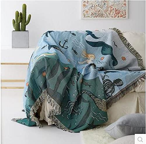 haoyunlai Armchair Cover Couch Towel Slipcover Sandfront cotton line fabric sofa cover non-slip sofa blanket summer air-conditioned blanket-Sofa towel 01_160 * 260cm