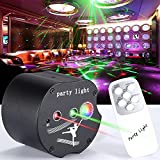 Party Lights Disco Lights, caivimvn 48 Patterns + RGB Background Dj Lighting Projector Sound Activated Flash Strobe Light with Remote Control for Parties Home Show Bar Club Birthday Pub Xmas Holiday
