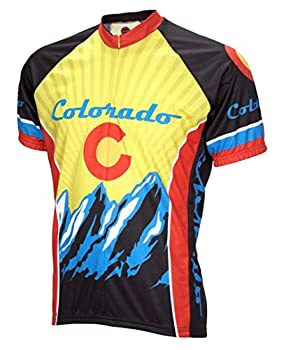 World Jerseys Colorado Cycling Jersey Men s Large Short Sleeve