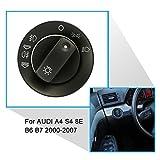 KKmoon Abdeckung Switch Reparatur-Set für Auto-Scheinwerfer, Nebelscheinwerfer für Audi A4 S4 8E B6 B7 2000-2007