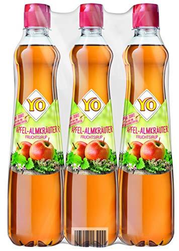 Yo Sirup Apfel-Almkräuter, 6er Pack, PET (6 x 700 ml)