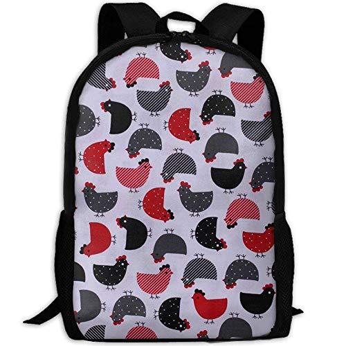 best& Vintage Chickens Chicks Hens College Laptop Backpack Student School Bookbag Rucksack Travel Daypack