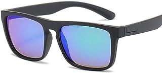 QPRER - Gafas De Sol,Azul Claro Rectángulo Silicona Clásico Niña IR De Compras Calle Gafas De Sol Verano Niños Diario Al Aire Libre Gafas Niño Seaside Party UV Cumpleaños Regalo del Día del Niño