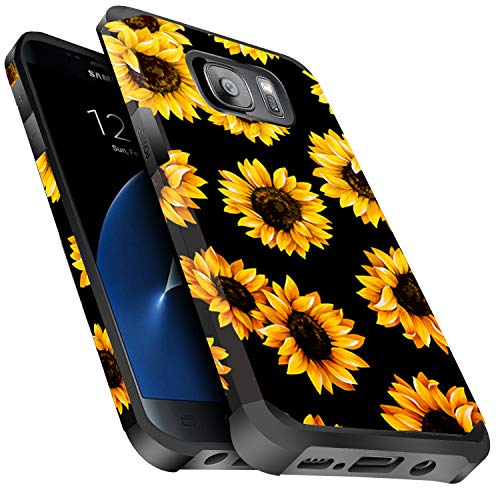 Galaxy S7 Case Shockproof, Miss Arts Slim Anti-Scratch Protective Kit with [Drop Protection] Heavy Duty Dual Layer Hybrid Sturdy Armor Cover Case for Samsung Galaxy S7 -Sunflower