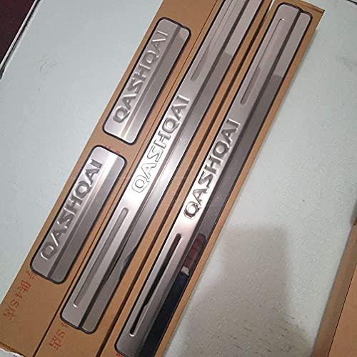 Auto Einstiegsleisten Türschweller für Nissan Qashqai J10 J11 2016-2021,pedalschutz Schwellenwertabdeckung Willkommenspedal Rostfreier Stahl Anti-Scratch-Trim Styling Tuning Karosserie-Anbauteile