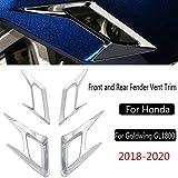 ホンダゴールドウイングGL1800クロム2018-2020フロントバンパーとリアフェンダーベントトリムキットを防ぐ