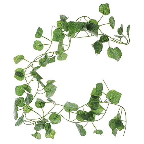 TIANTIAN 5Pack Artificial Fake Ivy Leaf Vines Green Leaves Hanging Garland Fake Foliage Flowers for Wedding Party Garden Wall Decoration