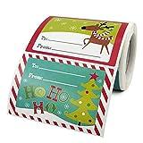 Stylebest Pegatinas navideñas, 250 Piezas Pegatinas navideñas de Dibujos Animados Regalo navideño Pegatinas navideñas Etiquetas Autoadhesivas para Sobres Fabricación de Tarjetas de Bricolaje