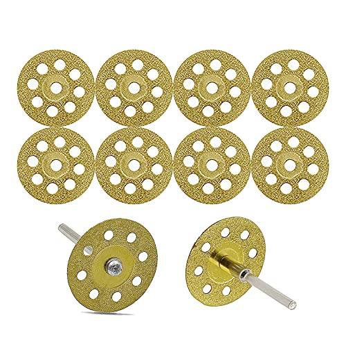 研磨カッター 軸×2本(軸径3mm) 回転式 彫刻工具 ダイヤモンドカッティングディスク マイクログラインダー用 ドレメル回転工具用丸鋸刃 薄板金属 ブレード(穴付き)