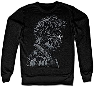 Officially Licensed Inked Harry Potter Wordings and Symbols Sweatshirt (Black)