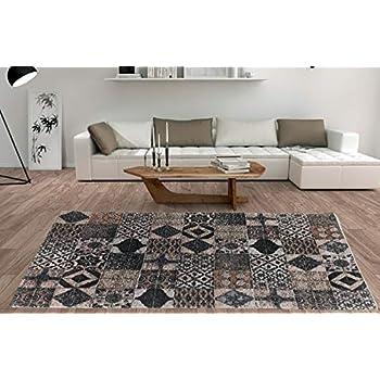DeCarpet Alfombra Salón Dormitorio Moderna Algodón Lavable ...