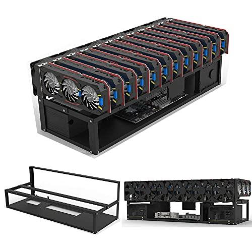 Open Air Mining Rig Frame 12 GPU Bitcoin Minería Caso Rack Placa Base Soporte Ordenador Caso Miner Frame-Rack